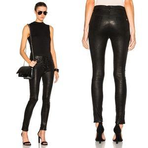Rag and bone lace up high waist leather pants sz30
